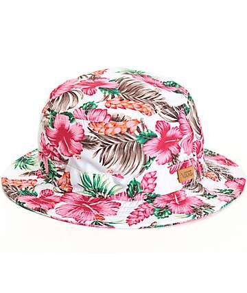 90398ca53d8 Vans Brohola Hawaiian Floral Bucket Hat