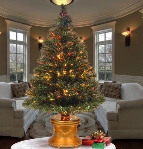 Fiber-Optic Christmas Tree Holiday Decor 3 Foot Table Top Color Changing  Mini #TinyShamrockUSA - Fiber-Optic Christmas Tree Holiday Decor 3 Foot Table Top Color