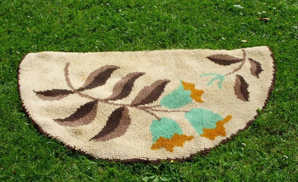 Details About Vintage 1940 S 50 S Half Moon Hearth Rug