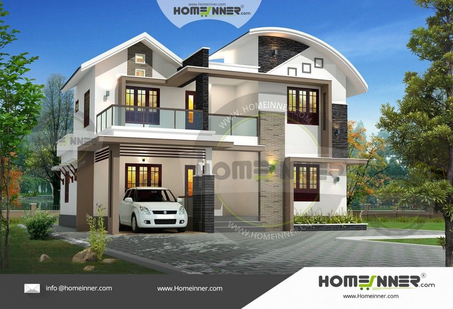 4 Bedroom House Architecture In India Modern House Plans House Front Design Duplex House Design