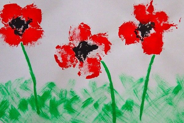 Remembrance Day Poppy Field Craft for Kids | My Baba