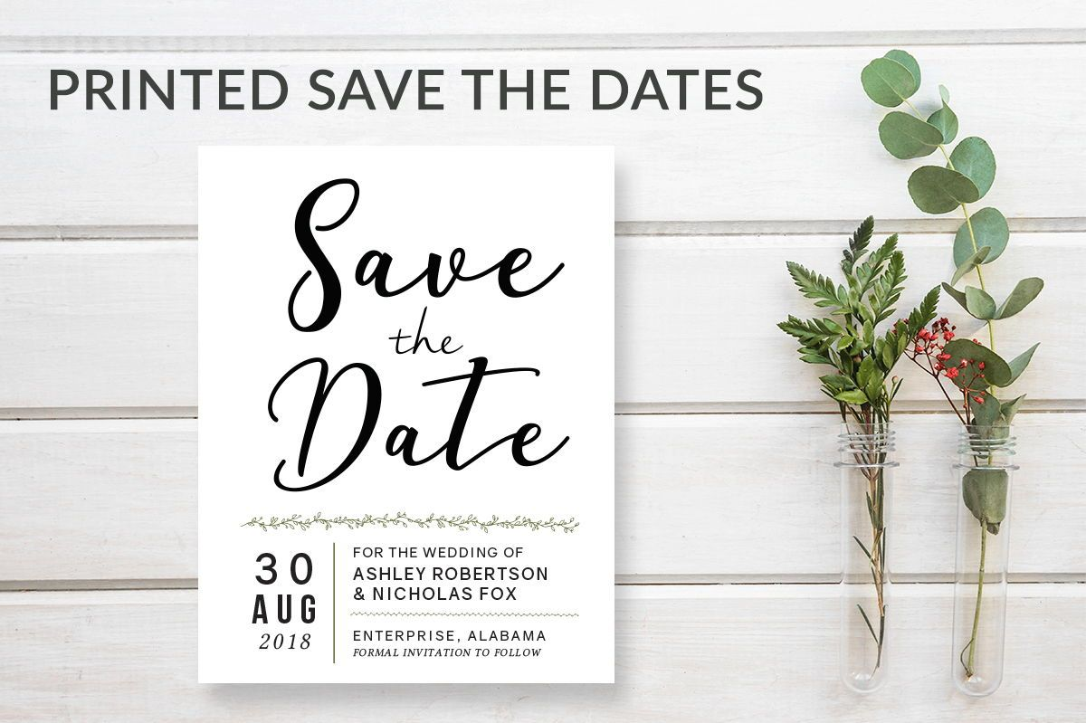 simple modern save the date wedding invitation announcements