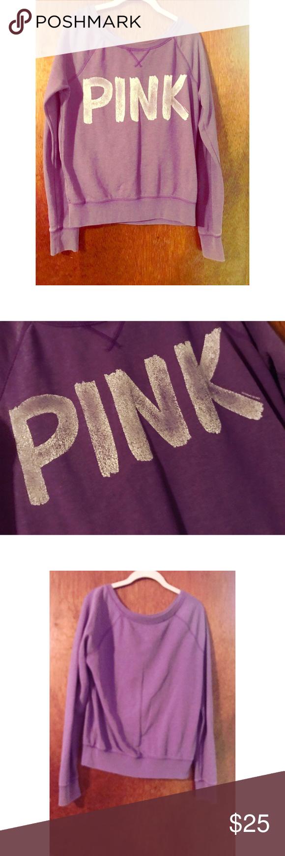 Victoria's Secret PINK Purple Sweater w/ Graphic | Pink purple and ...