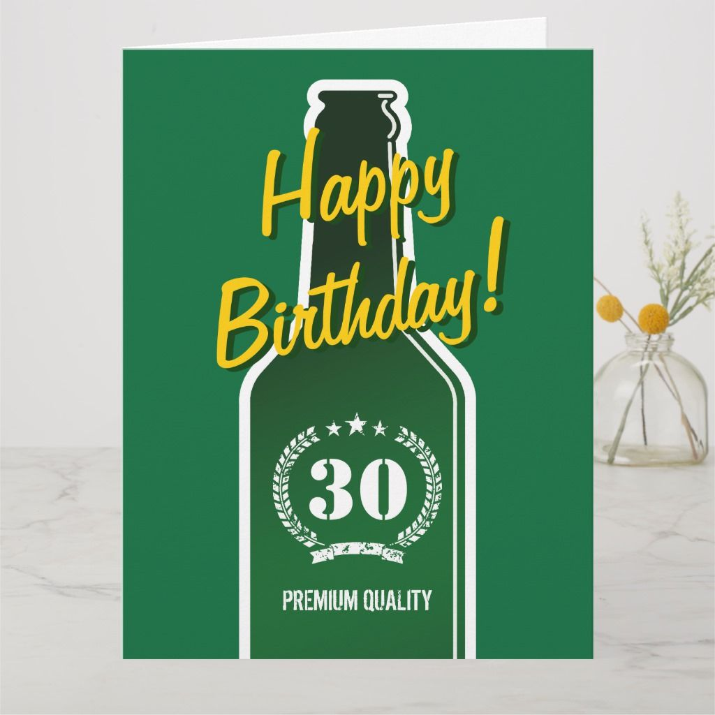 Happy 30th Birthday Big Extra Large Card For Men Zazzle Com In 2021 Birthday Cards For Men 30th Birthday Cards Birthday Cards For Son