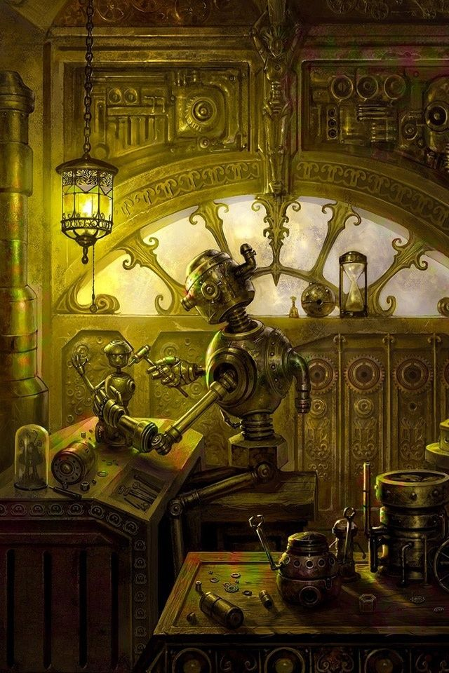 iPhone Steampunk Wallpaper WallpaperSafari Иллюстрации