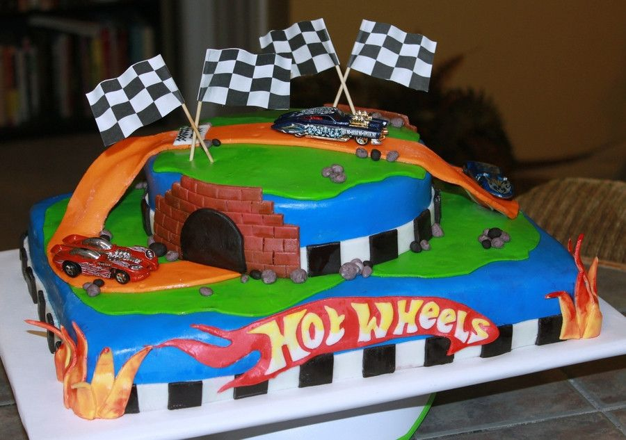 Hot Wheels Deco 1 4 Sheet Cake With Images Birthday Sheet