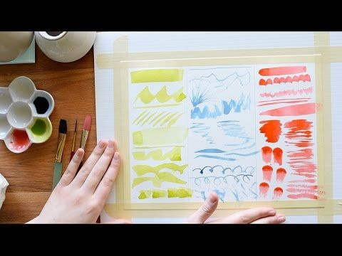 Beginner Watercolor Exercises By Thewittygrittypaperco Drawing