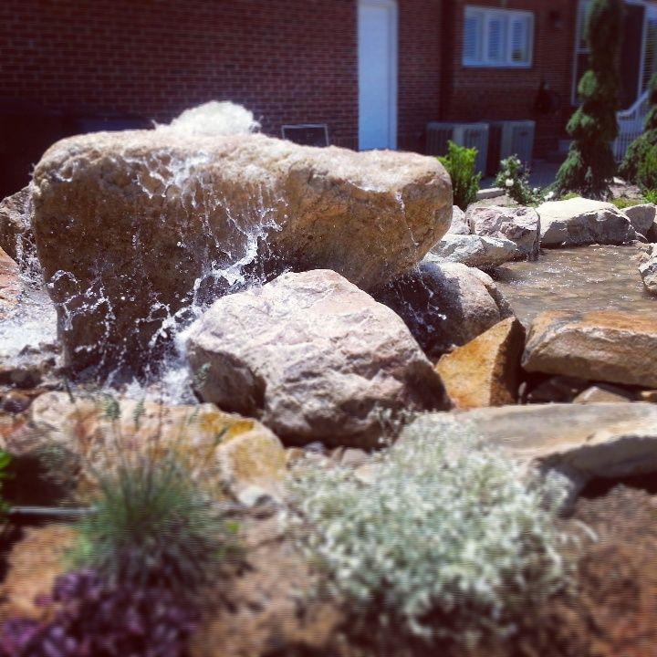 Bubbling Rock Rock Fountain Fountains Garden Fountains