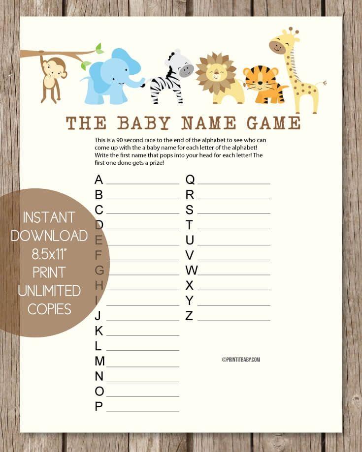 Baby Shower Candy Bar Game Woodland Animal Theme Printitbaby
