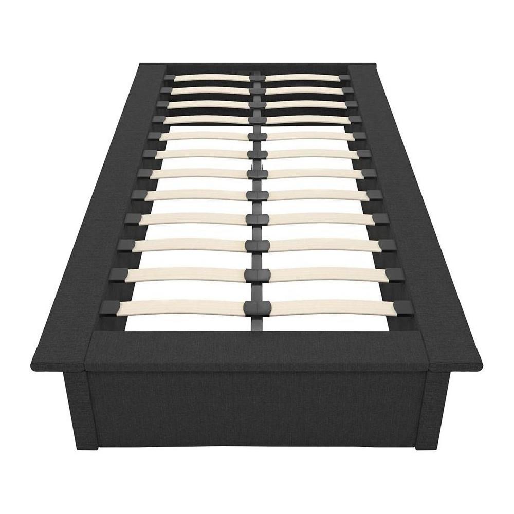 Twin Milania Upholstered Platform Bed Gray Room Amp Joy