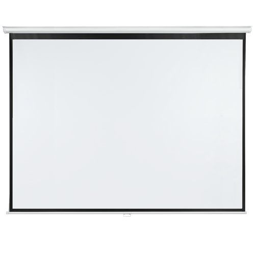 Symple Stuff Roll-Up White Portable Projection Screen