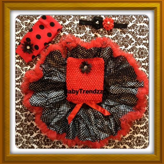 Lady Bug Pettiskirt Birthday Outfit With Images