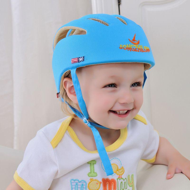 Baby Toddler Infants No Bumps Safety Helmet Adjustable Headguard Protect Cap