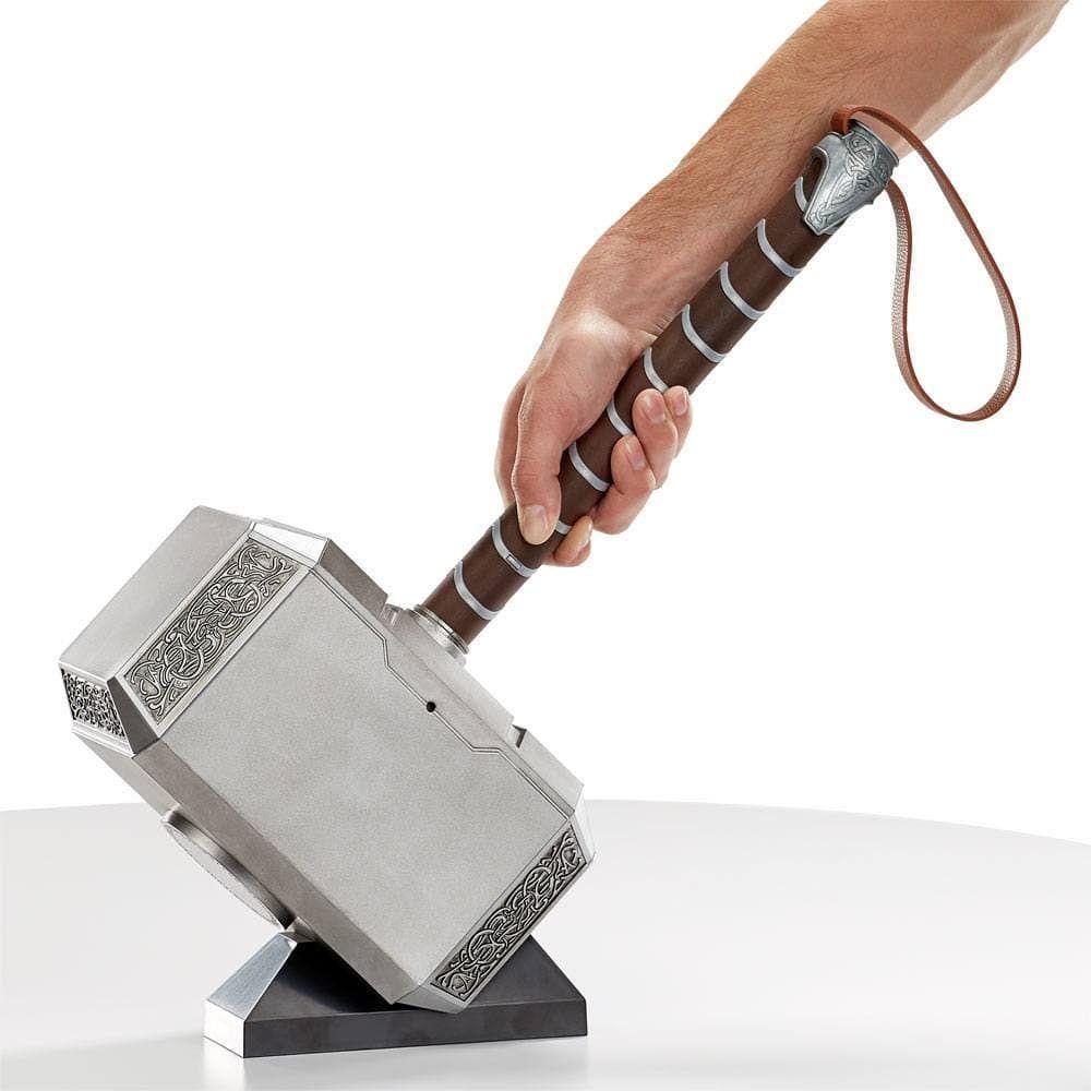 Invoca El Poder De Mjolnir Con Este Martillo Electrónico Mjolnir Premium De La Serie Legends De Marvel Podrás Empuñar El Ham Holder Holder Meat Tenderizer
