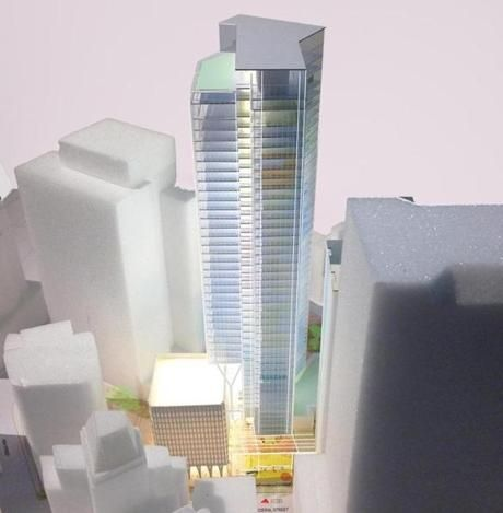 City Hall Opens Door For 600 Foot Tower On Harbor Garage Site The Boston Globe Architecture Model Tower City Hall