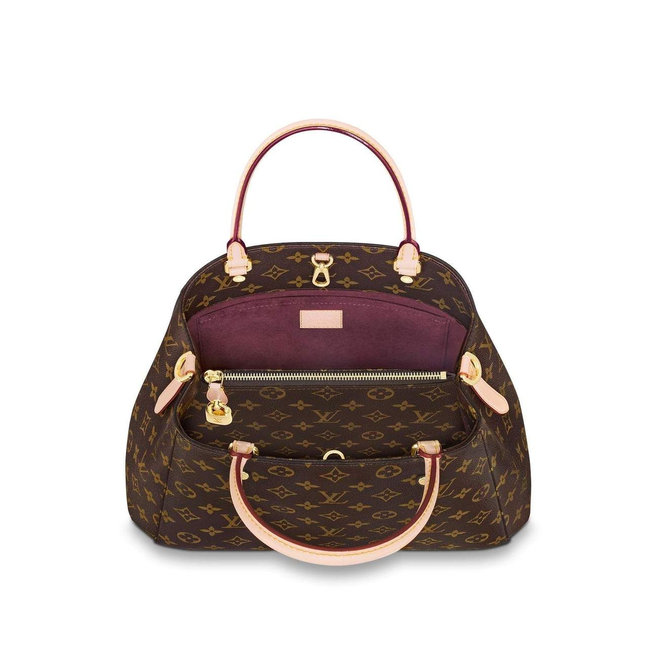 0eb084b6d957 Louis Montaigne Bag Monogram Print Brown Color MM in 2019