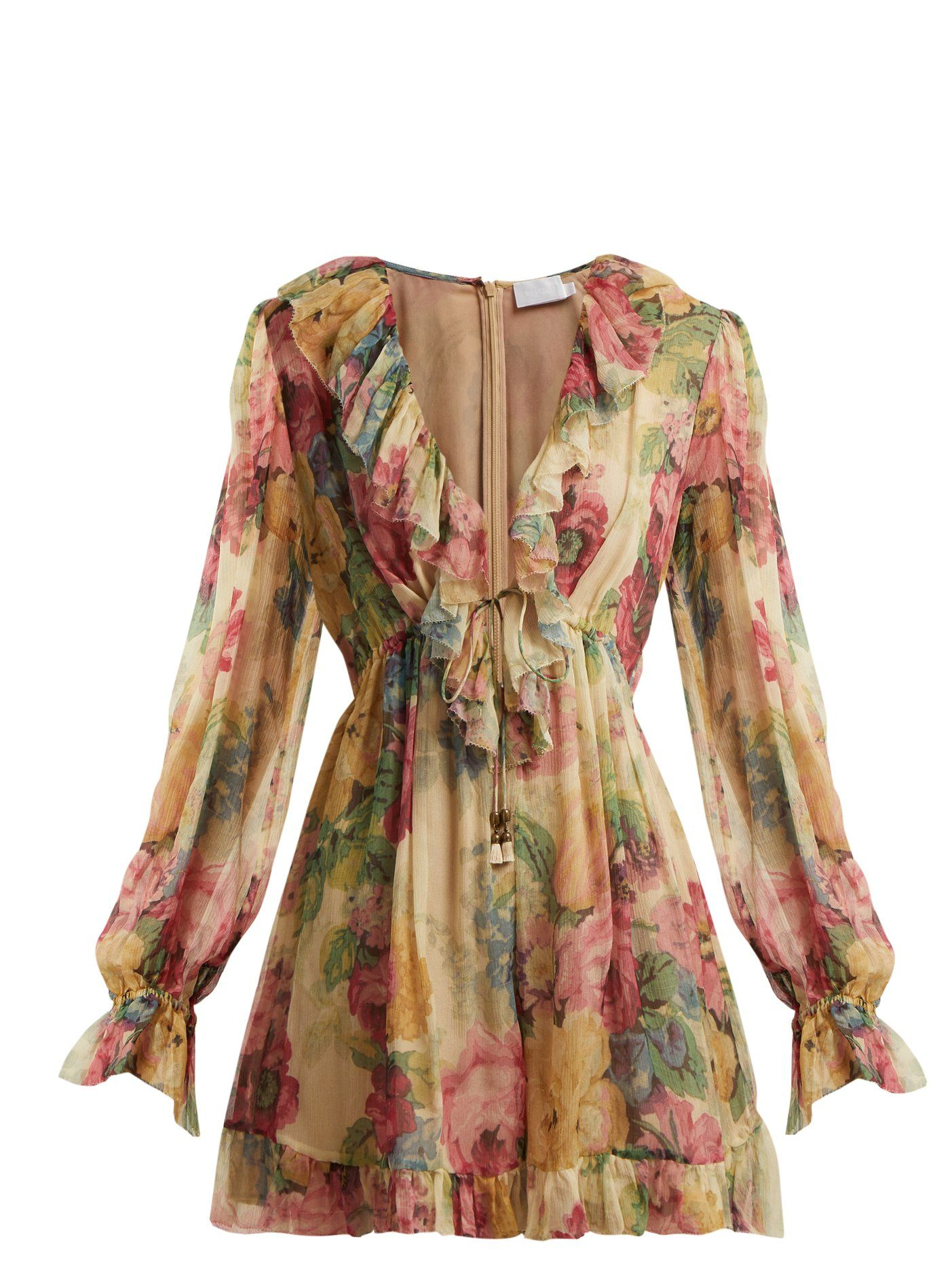 c069dded38 Melody Floating floral-print silk playsuit