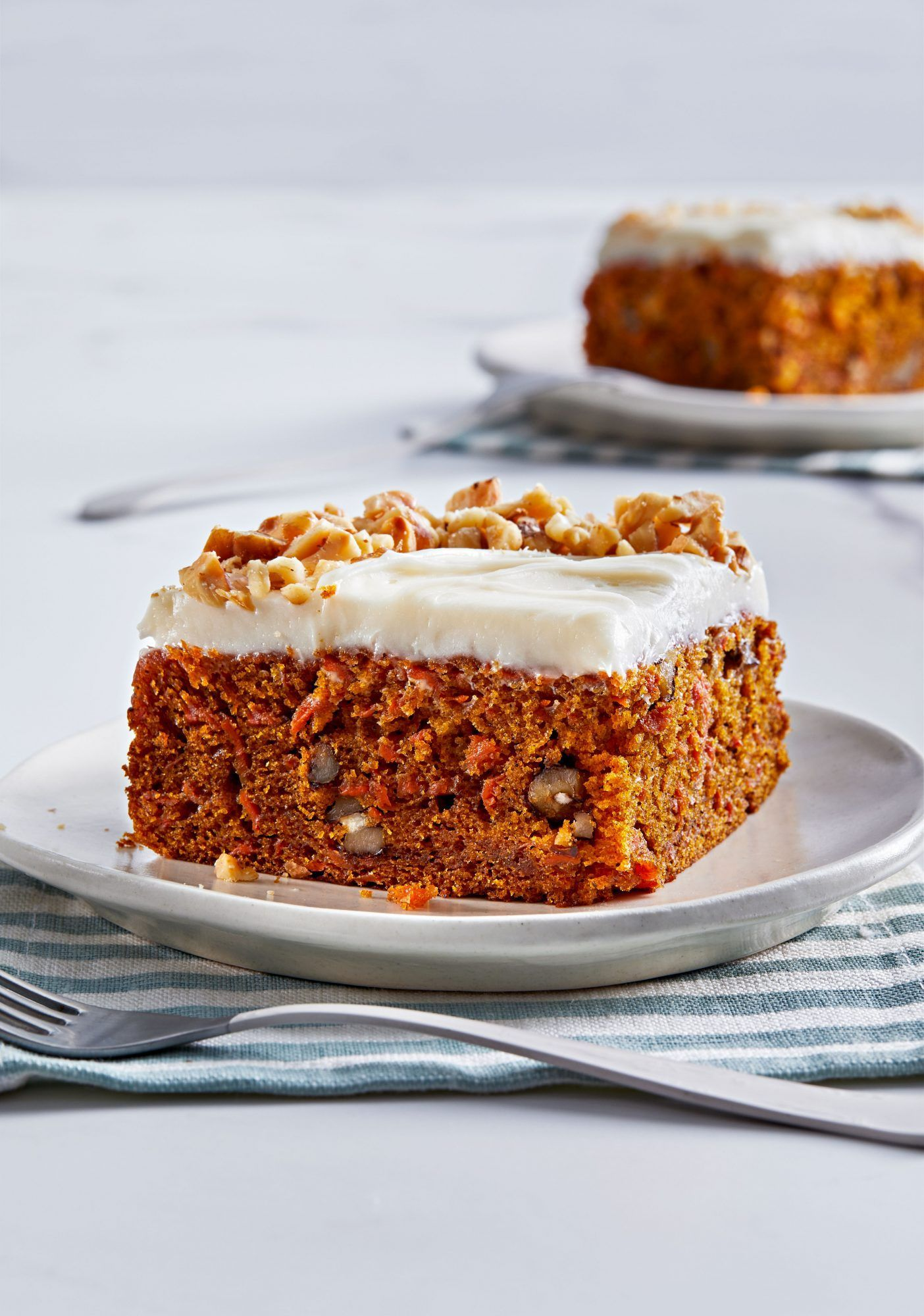 Carrot Walnut Snack Cake With Cream Cheese Frosting Recipe In 2021 Snack Cake Fruity Cake Carrot Cake Bars
