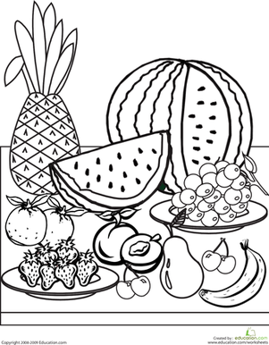 Fruit Coloring Page Fruit Coloring Pages Free Coloring Pages Kids Printable Coloring Pages