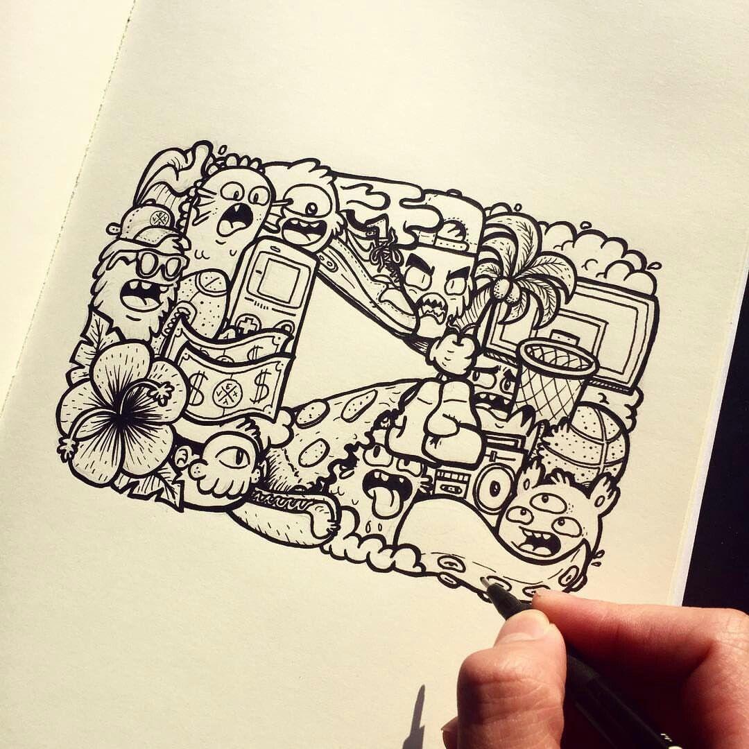 ♥pinterest Nor Syafiqah♥ Doodle art drawing, Doodle art