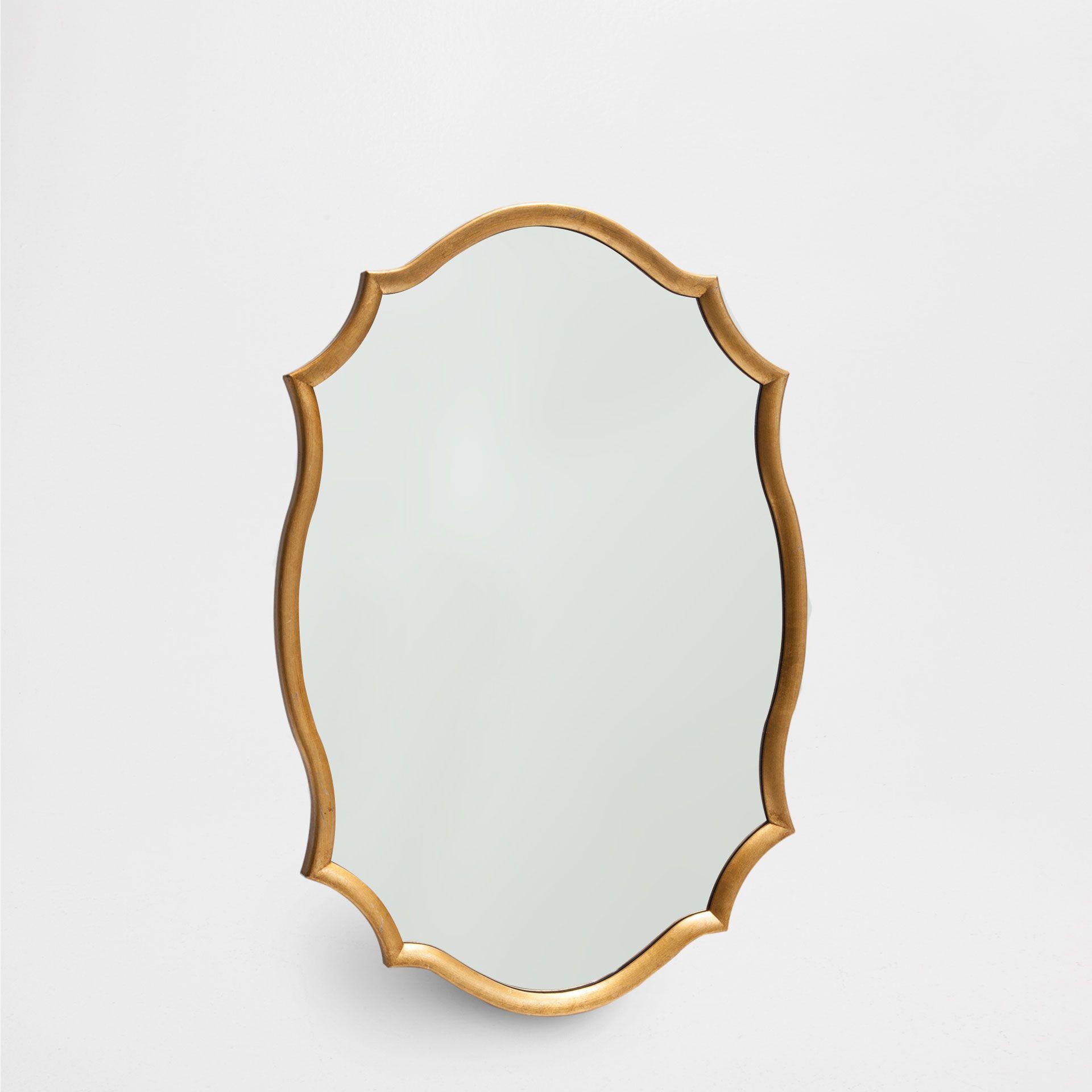 Espejo perfil dorado espejos decoraci n zara home for Marcos para espejos de pie