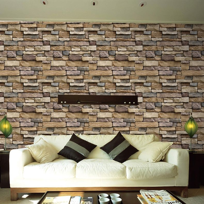 Best Waterproof Stone Brick Wall Sticker Self Adhesive 400 x 300