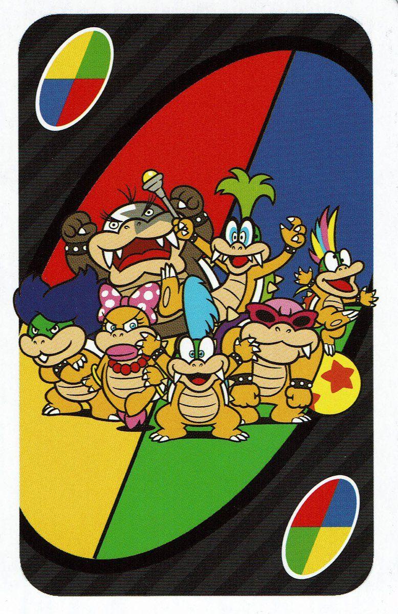 Super Mario UNO Koopalings VideoGameArt&Tidbits