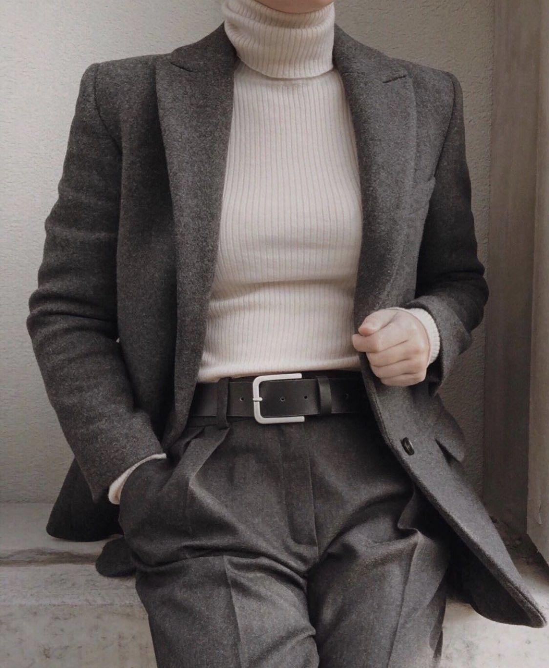classy women's look 20+ Dark Academia Outfit Winter 2020