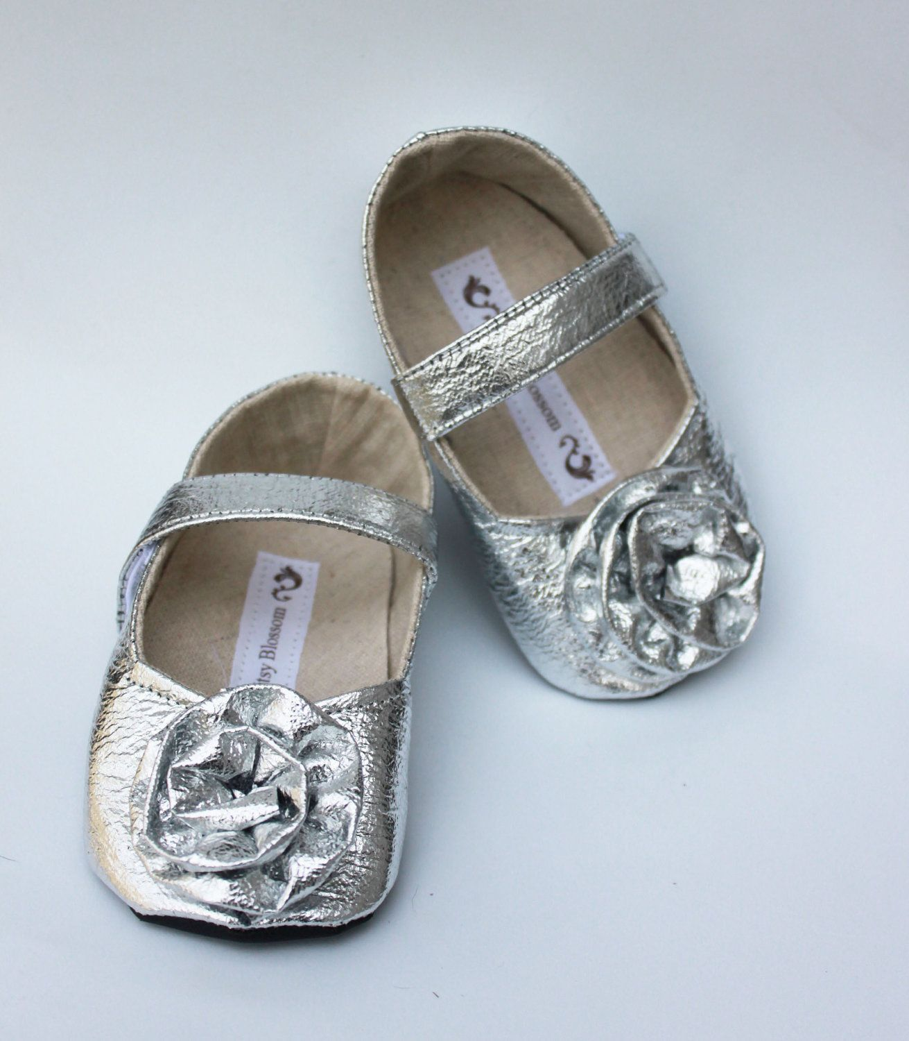 Toddler Shoes Soft Soled Silver Bells Size 5 9 $32 00 via Etsy