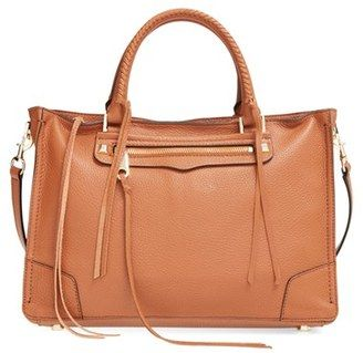 Shop Now - >  https://api.shopstyle.com/action/apiVisitRetailer?id=518674441&pid=uid6996-25233114-59 Rebecca Minkoff 'Regan' Satchel - Brown  ...