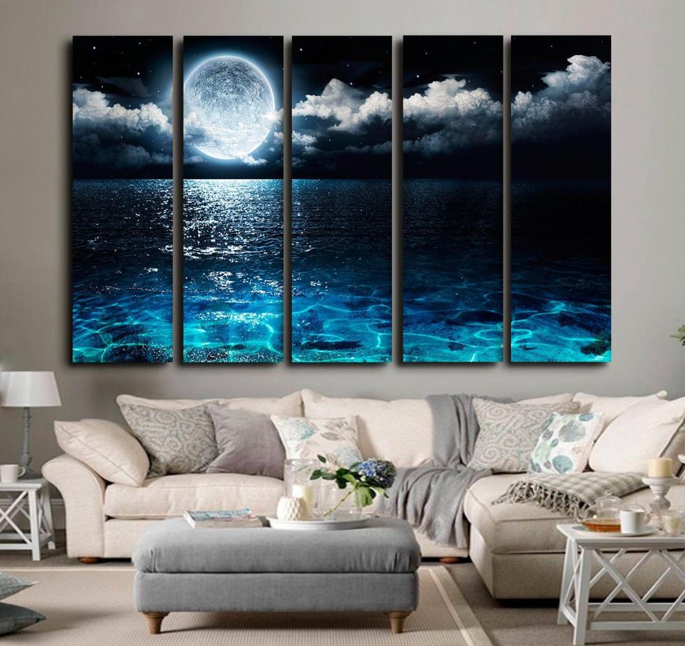 Moon Canvas Art Canvas Wall Art Moon Wall Art Moon Prints Moon Etsy Wall Canvas Moon Wall Art Wall Art Painting
