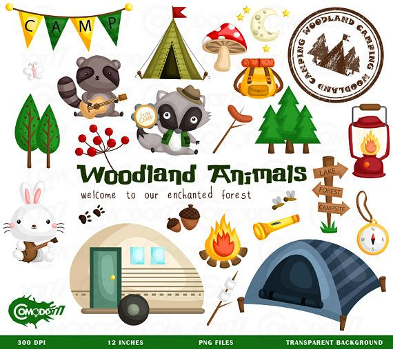 Camping animal. Clipart clip art png