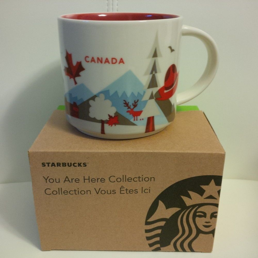 starbucks you are here yah collection mug canada second 2nd version edition rare starbucks. Black Bedroom Furniture Sets. Home Design Ideas
