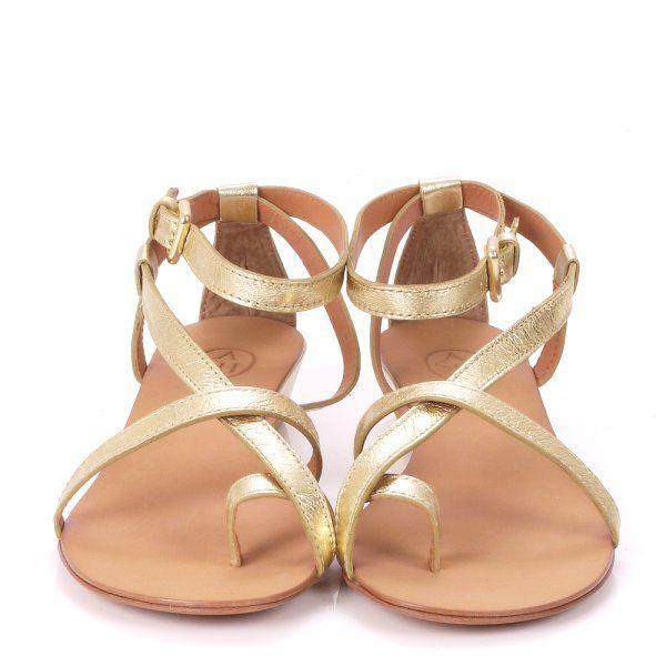 Ash Lips Gold Toe Loop Sandal Looks Look