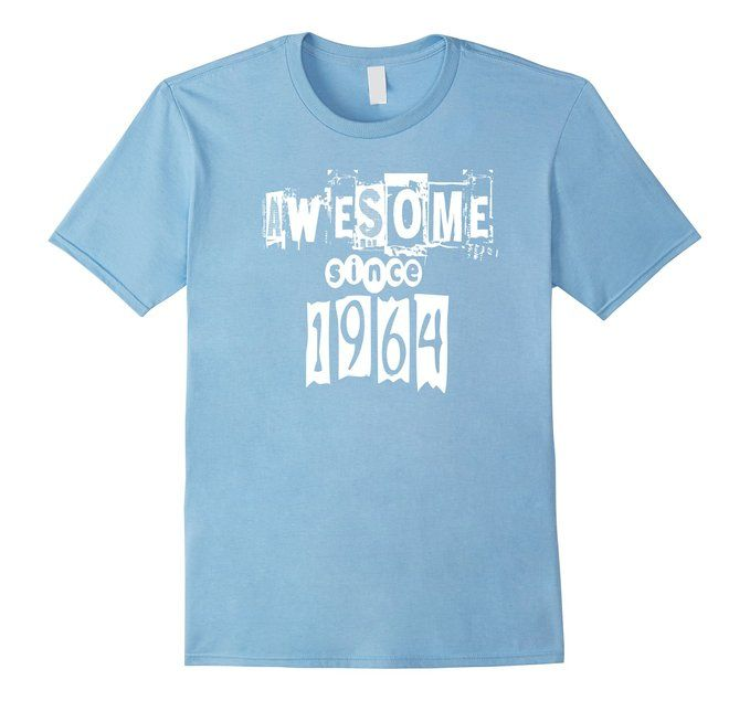 Men's Awesome Since 1964 Birthday Gift Anniversary Small Baby Blue