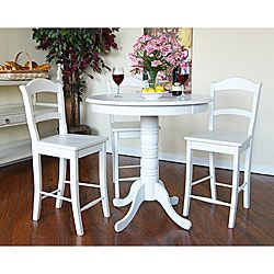 Hammond Antique White Pub Table | Overstock.com Shopping - Big Discounts on Bar Tables  sc 1 st  Pinterest & Hammond Antique White Pub Table | Overstock.com Shopping - Big ...