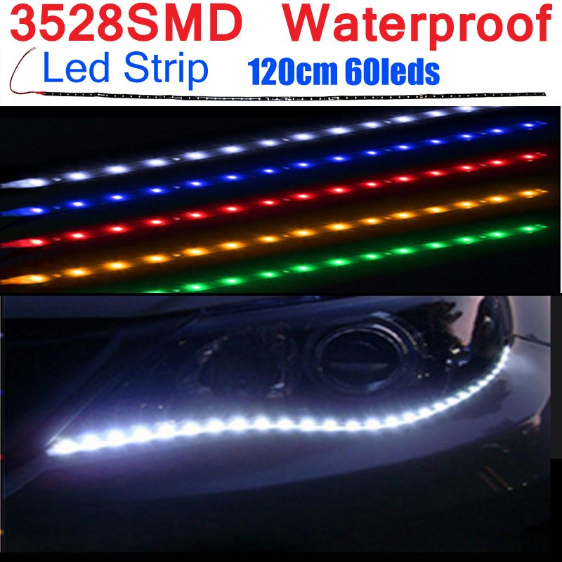Automotive Led Light Strips Fair 30Cm 60Cm 90Cm 120Cm Waterproof Led Strip Flexible Lights Dc12V Smd Design Decoration