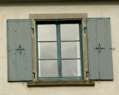 Rustic shutters with cross cutouts | My House is my Home ...