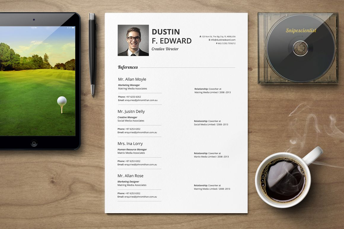 Premium Resume Cv Template Set  Resumes    My Resumes Options
