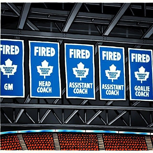 Oh look. The Leafs finally put up new banners to show how great their 2014-15 season was! #hookedonhockey