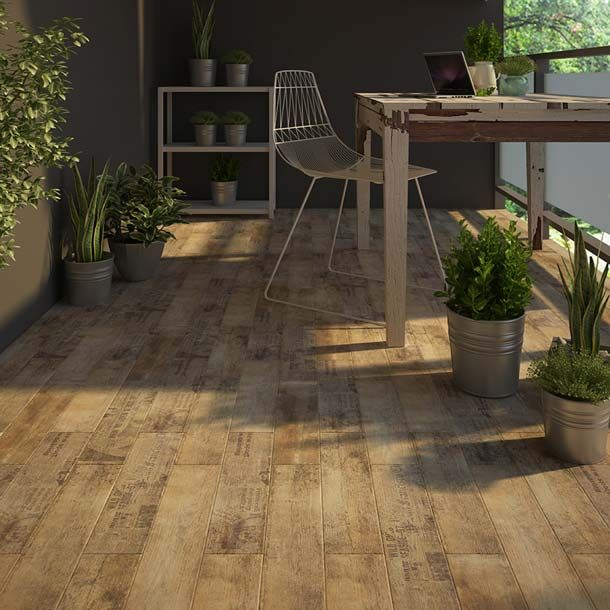 Antique Wood Rust Is A 15x60cm Wood Effect Floor Tile Made Of
