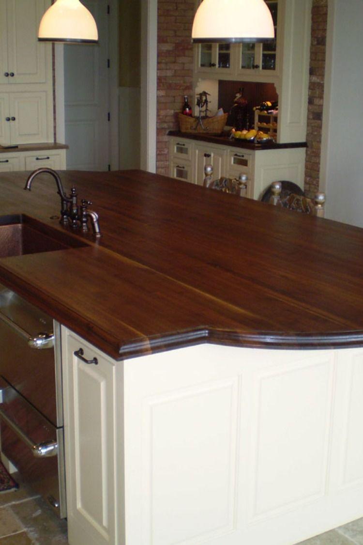 Butcher Block Top Wood Countertops Custom Kitchen Designs Wooden