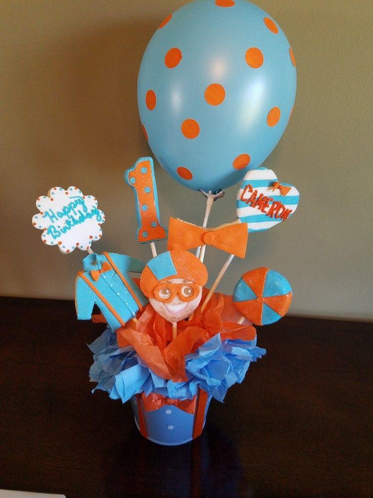 blippi cookie bouquet gabe birthday blue birthday