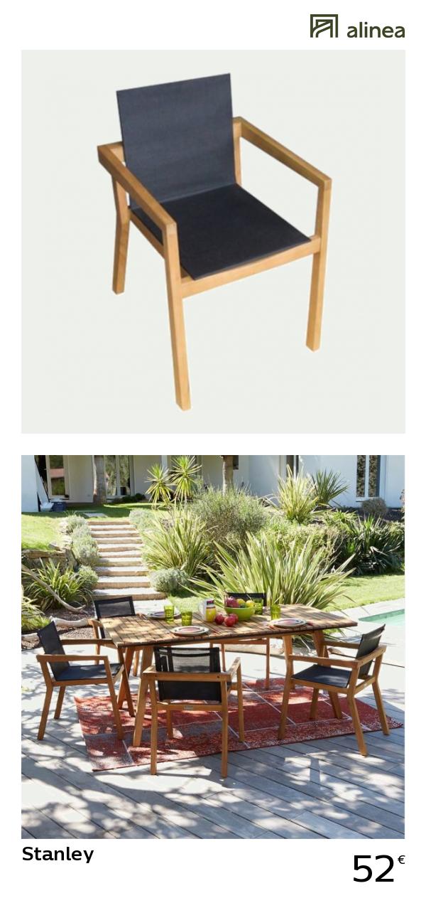 Alinea stanley fauteuil de jardin en eucalyptus et textilène les soldes alinea