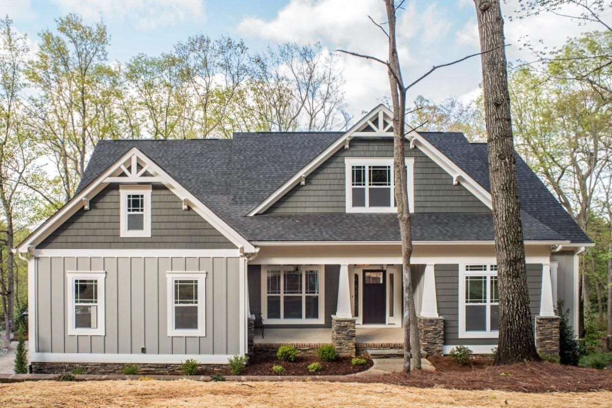 Classic Craftsman-Style House Plan with Vaulted Family with Loft Overlook
