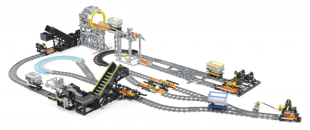 Incredible self-driving LEGO train system shuffles balls around ...