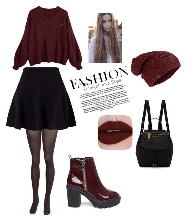 """""""ZaFul"""" by benelux2 ❤ liked on Polyvore featuring Steve Madden, Miss Selfridge, Marc Jacobs, booties, pullover, circleskirt and shinskyBeanie"""