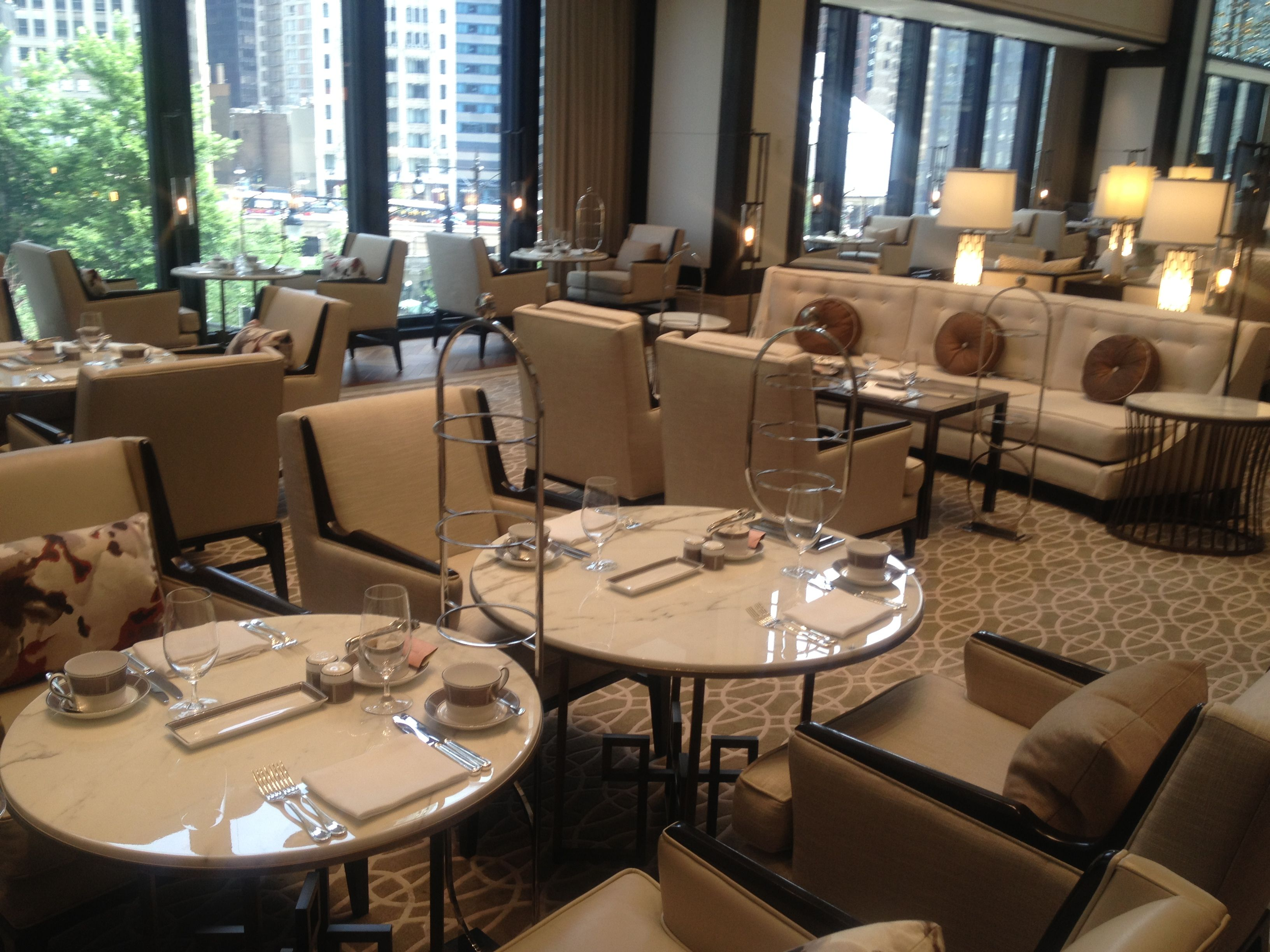 Set For Afternoon Tea At The Langham, Chicago.