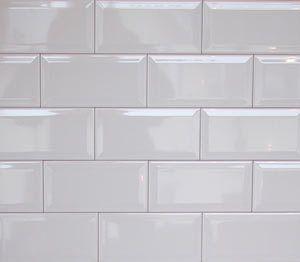 Wall Tiles Gloss White Bevel Subway Tile 150x75mm Selling Per Square Metre Beveled Subway Tile White Beveled Subway Tile Subway Tile