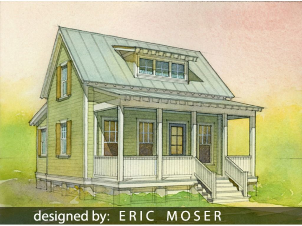 Katrina Cottage Plan #514-10 by Eric Moser | Trending Now ...